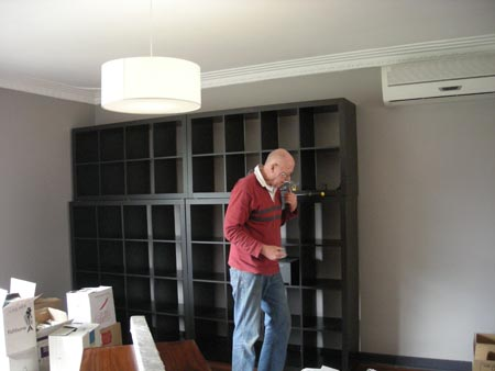Got to love shelving cross braces and DIY Dad's lateral thinking skillz