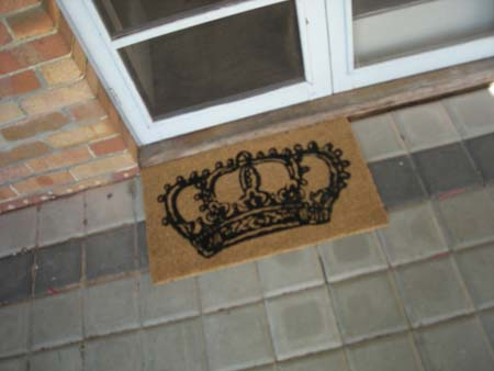 Don't use the doormat, it's too nice.