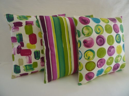 Wicked Walls Shop: Purple Magenta Green Spot Designer Cushion Cover Pillowcase