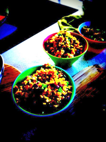 Corn and Black Bean Salsa Pop Art Style